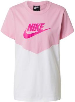 Nike Sportswear Heritage T-Shirt (BQ9555) pink rise/white/fire pink