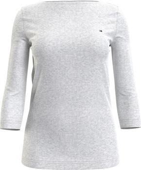 Tommy Hilfiger Boat Neck Three-Quarter Sleeve T-Shirt (WW0WW29647) light grey heather