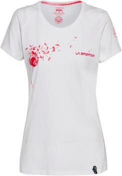 La Sportiva Windy T-Shirt Apparel Climbing Women white/hibiscus