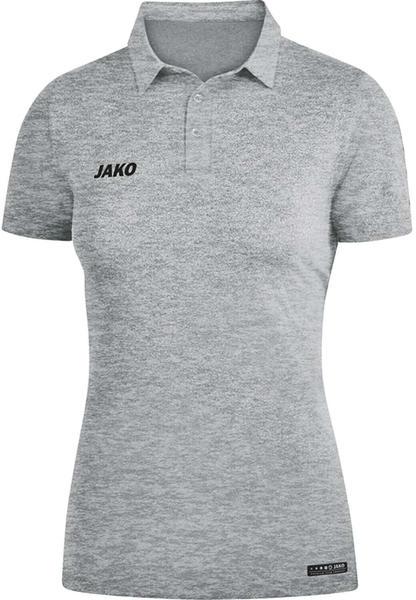 JAKO Damen Polo Premium Basics 6329 grau meliert