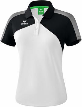 Erima Damen Poloshirt Premium One 2.0 (1111811) weiß/schwarz/weiß