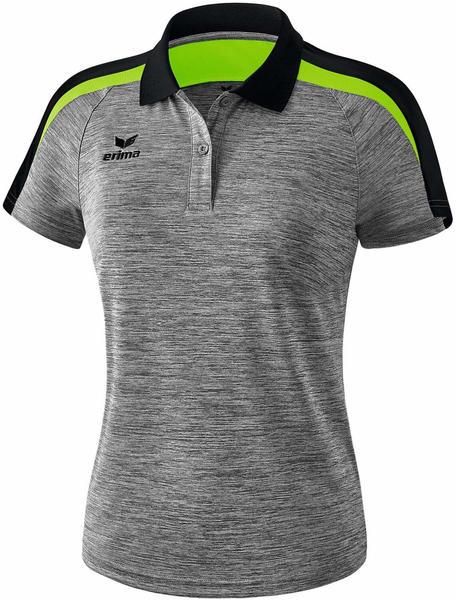 Erima Damen Poloshirt Liga 2.0 (1111837) grau melange/schwarz/green gecko