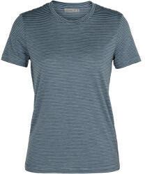 Icebreaker Womens Merino Dowlas Short Sleeve Crewe Stripe T-Shirt gravel