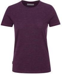 Icebreaker Womens Merino Dowlas Short Sleeve Crewe Stripe T-Shirt brazilwood