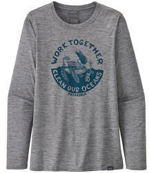 Patagonia Womens Long-Sleeved Capilene Cool Daily Graphic Shirt work together: feather grey