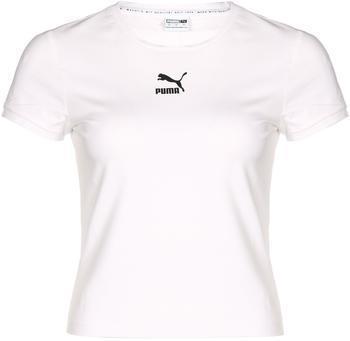 Puma Classics Fitted Damen T-Shirt (599577) white