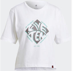 Adidas Five Ten Cropped Graphic Tee (GM8725) white