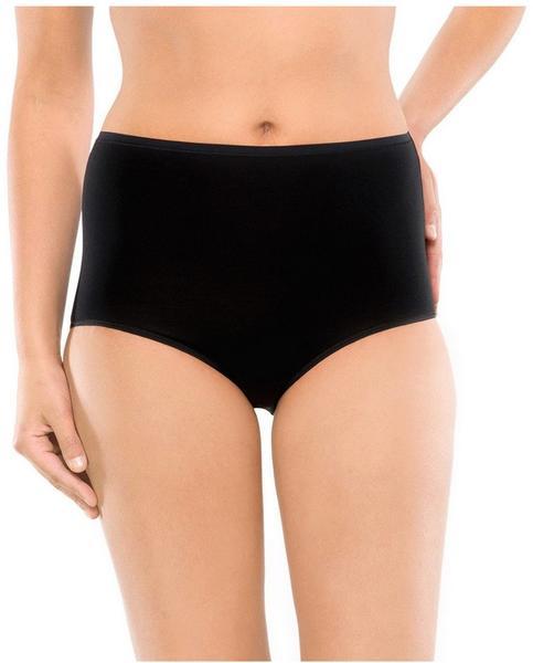 Schiesser Cotton Essentials Maxi Slips (145107-000) 2er-Pack schwarz