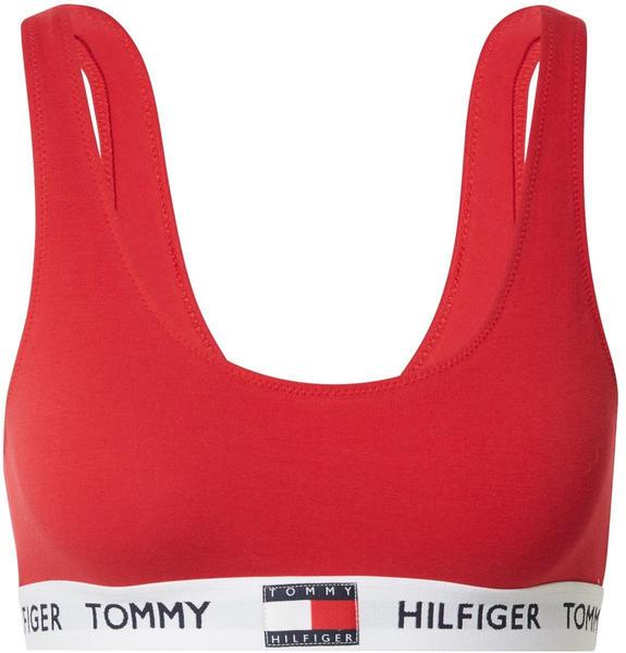 Tommy Hilfiger Logo Underband Organic Cotton Bralette (UW0UW02225) tango red