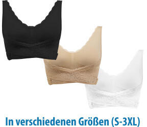 Genius Cara Mia BH 3-Set black/nude/white