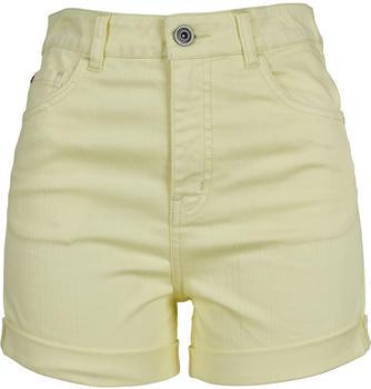 Urban Classics Ladies Highwaist Stretch Twill Shorts powder yellow (TB1999-01323)