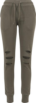 Urban Classics Ladies Cutted Terry Pants olive (TB1304-176)