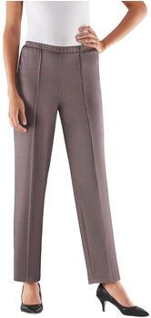 Witt Weiden Classic Basic Slip-on Pants bordeaux checked (823147188)