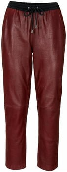 Heine Leather Joggpants brown