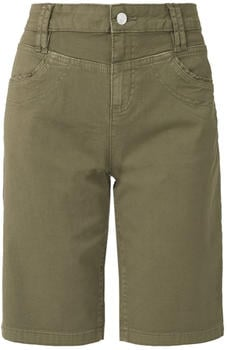 S.Oliver Smart Bermuda: Twill Trousers (05.906.74.3761) olive