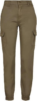 Urban Classics Ladies High Waist Cargo Pants olive