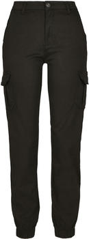 Urban Classics Ladies High Waist Cargo Pants black