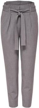 Only Nicole Paperbag Ankle Pants (15160446) light grey melange