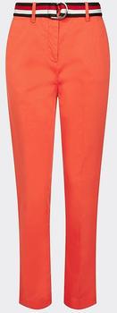Tommy Hilfiger Stückgefärbte Baumwoll-Tencel-Hose (WW0WW27274) bright vermillion