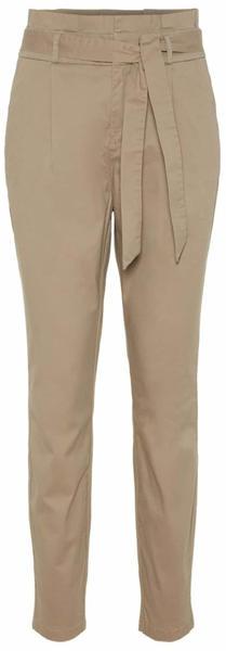 Vero Moda High Waist Paperbag Pants (10216704) silver mink