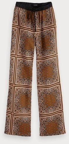 Scotch & Soda Hose mit Bandana-Print und weitem Bein combo c (154186)