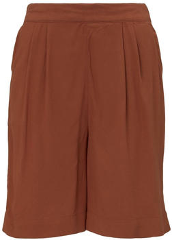 Tom Tailor Loose-Fit Bermuda Shorts with an Elastic Waistband saddle brown
