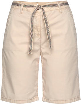 Tom Tailor Relaxed Chino Bermuda Shorts with a Fabric Belt soft vanilla