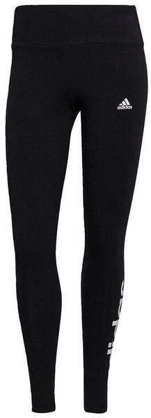 Adidas Essentials High-Waisted Logo Leggings black/white