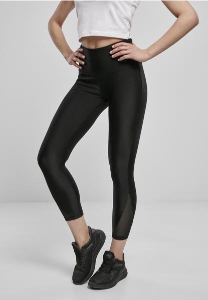 Urban Classics Ladies High Waist Shiny Rib Pedal Pusher Leggings (TB4076-00007-0037) black