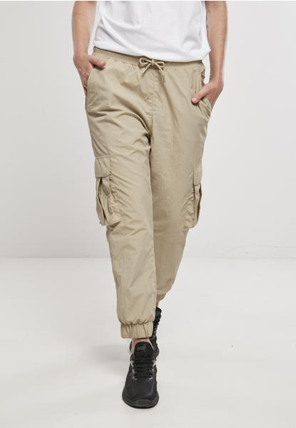 Urban Classics Ladies High Waist Crinkle Nylon Cargo Pants (TB3636-02439-0037) concrete