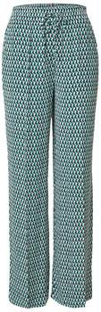 Tommy Hilfiger Viscose Geometric Print Wide Leg Trousers (WW0WW30737) court side geo/primary green