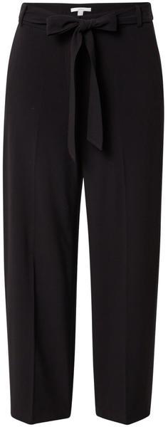 Esprit Stretch trousers with a tie-around belt (120EE1B317) black