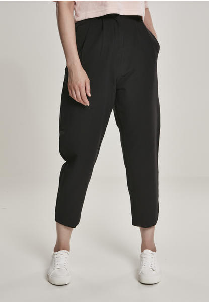 Urban Classics Ladies High Waist Cropped Pants Black (TB3237-00007-0042) schwarz
