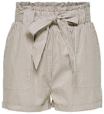 Only ONLSMILLA STRIPE BELT DNM SHORTS NOOS (15154906) toasted coconut