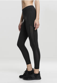 Urban Classics Ladies Tech Mesh Stripe Leggings Black (TB1736-00007-0042) schwarz