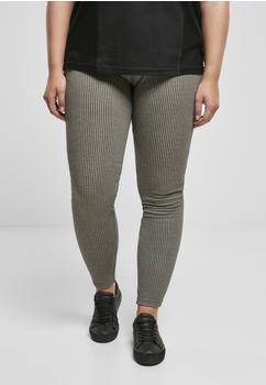 Urban Classics Ladies Vichy Check High Waist Leggings Offwhite/blk (TB3758-00750-0037) offwhite/black