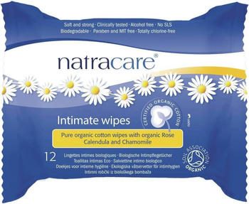 Natracare Intimate wipes (x12)