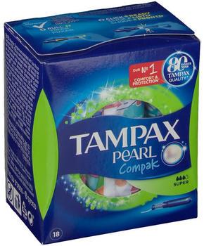 Tampax Pearl Compak Super (x18)