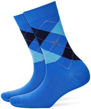 Burlington Uniforms Damen Strick Socken Queen blau/river blue (22040-6551)