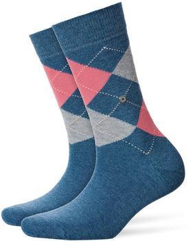 Burlington Uniforms Damen Strick Socken Queen blau/light denim (22040-6660)