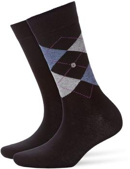 Burlington Uniforms Damen Strick Socken Everyday Argyle schwarz (22044-3000)