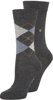 Burlington Uniforms Damen Strick Socken Everyday Argyle anthrazit (22044-3081)