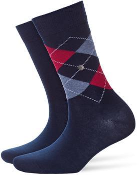 Burlington Uniforms Damen Strick Socken Everyday Argyle marine (22044-6120)