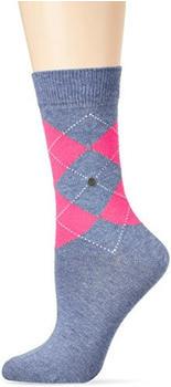 Burlington Uniforms Damen Socken Neon Queen blau (22070-6662)