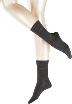 Esprit Damen Socken Doppelpack uni grau (18531-3080)