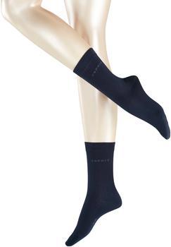 Esprit Damen Socken Doppelpack uni blau (18531-6120)