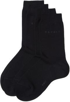 Esprit Damen Socken Basic Easy schwarz (18699-3000)