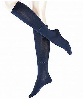 esprit-damen-kniestrumpf-basic-pure-blau-19590-6120