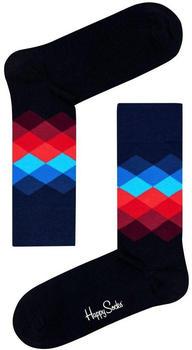 Happy Socks Faded Diamond Sock (FD01-069) blue/red/black