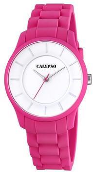 Calypso Damen-Armbanduhr Analog Quarz Plastik K5671/4